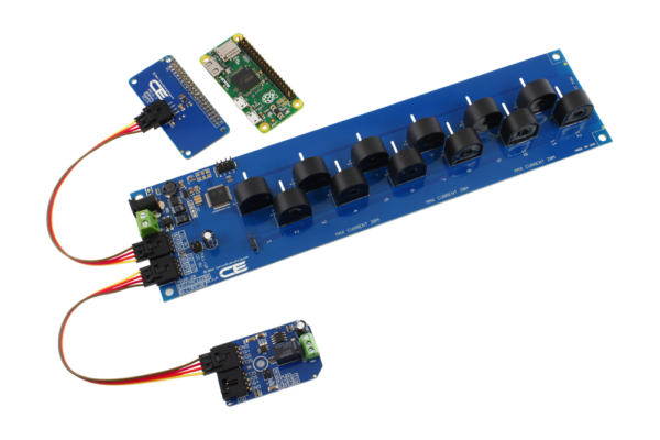 I2C Energy Monitoring 12-Channel 5-Amp for Pi Zero + Relay Mini Module