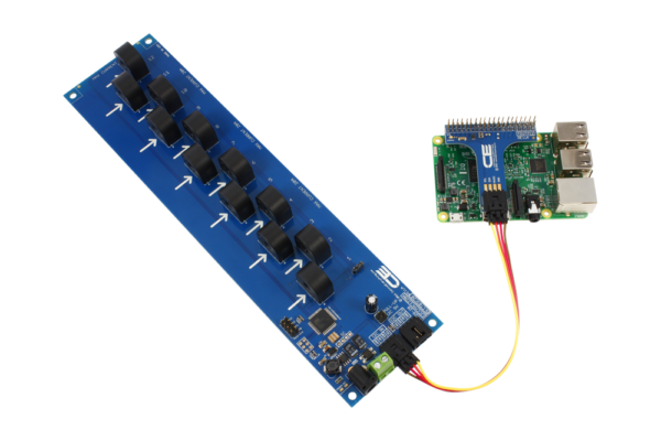Raspberry Pi 3 I2C Energy Monitoring 12-Channel 5-Amp 95% Accuracy