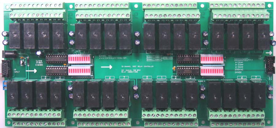 XR Expansion 32 Channel DPDT Signal Relay Controller - store.ncd.io