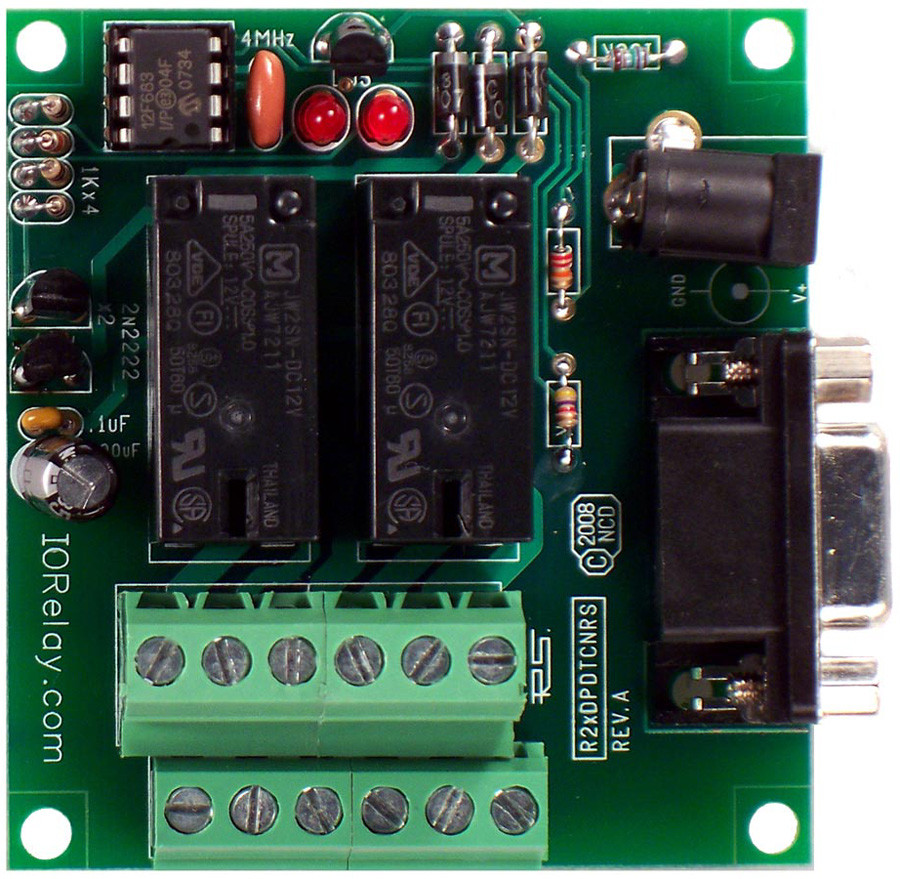 Rs 232 2 Channel Dpdt Relay Controller With Serial Interface Store 12vdc Relays Wiring Diagrams Please