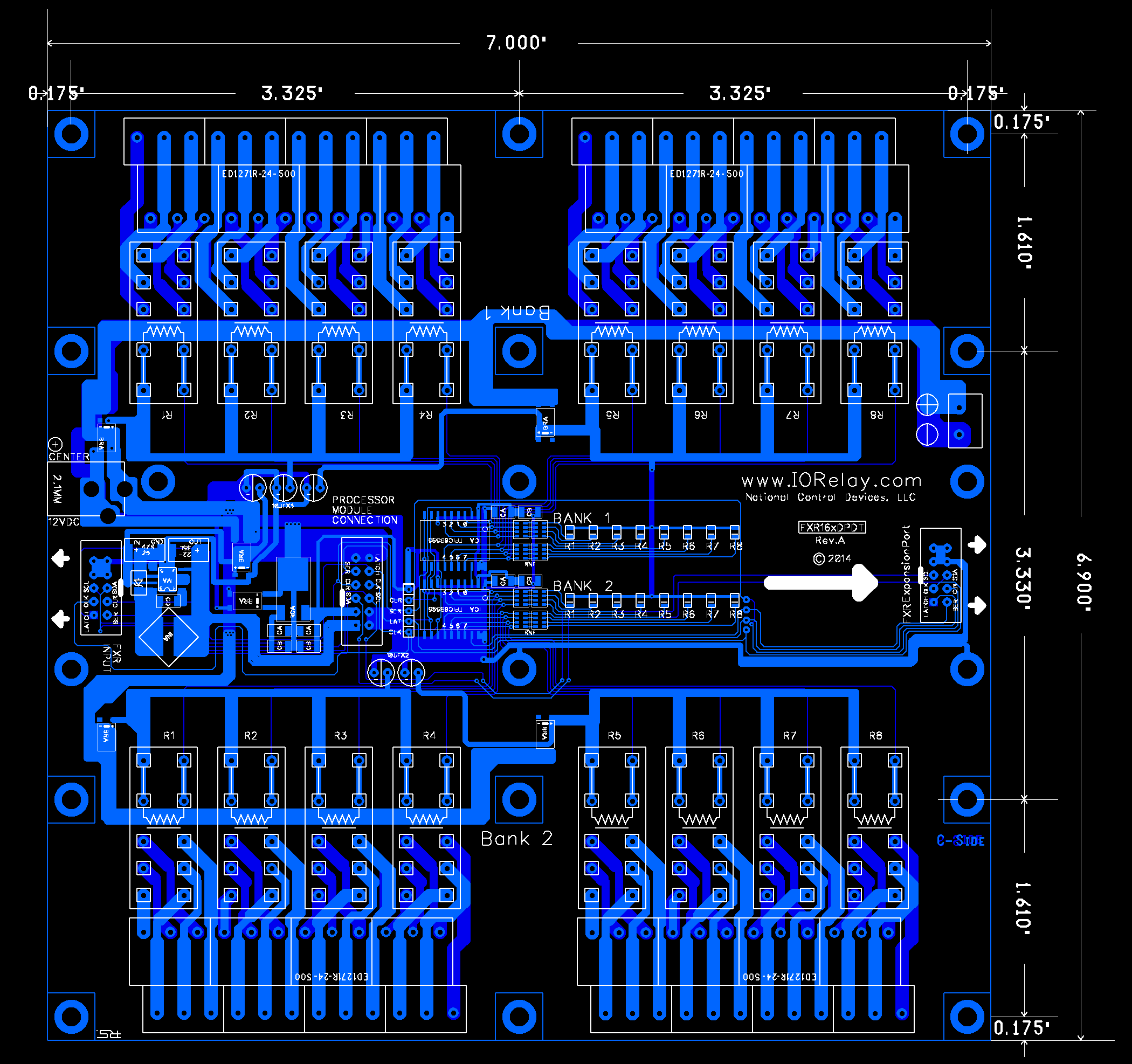 Fusion Expansion Dpdt Relay Controller 16-channel