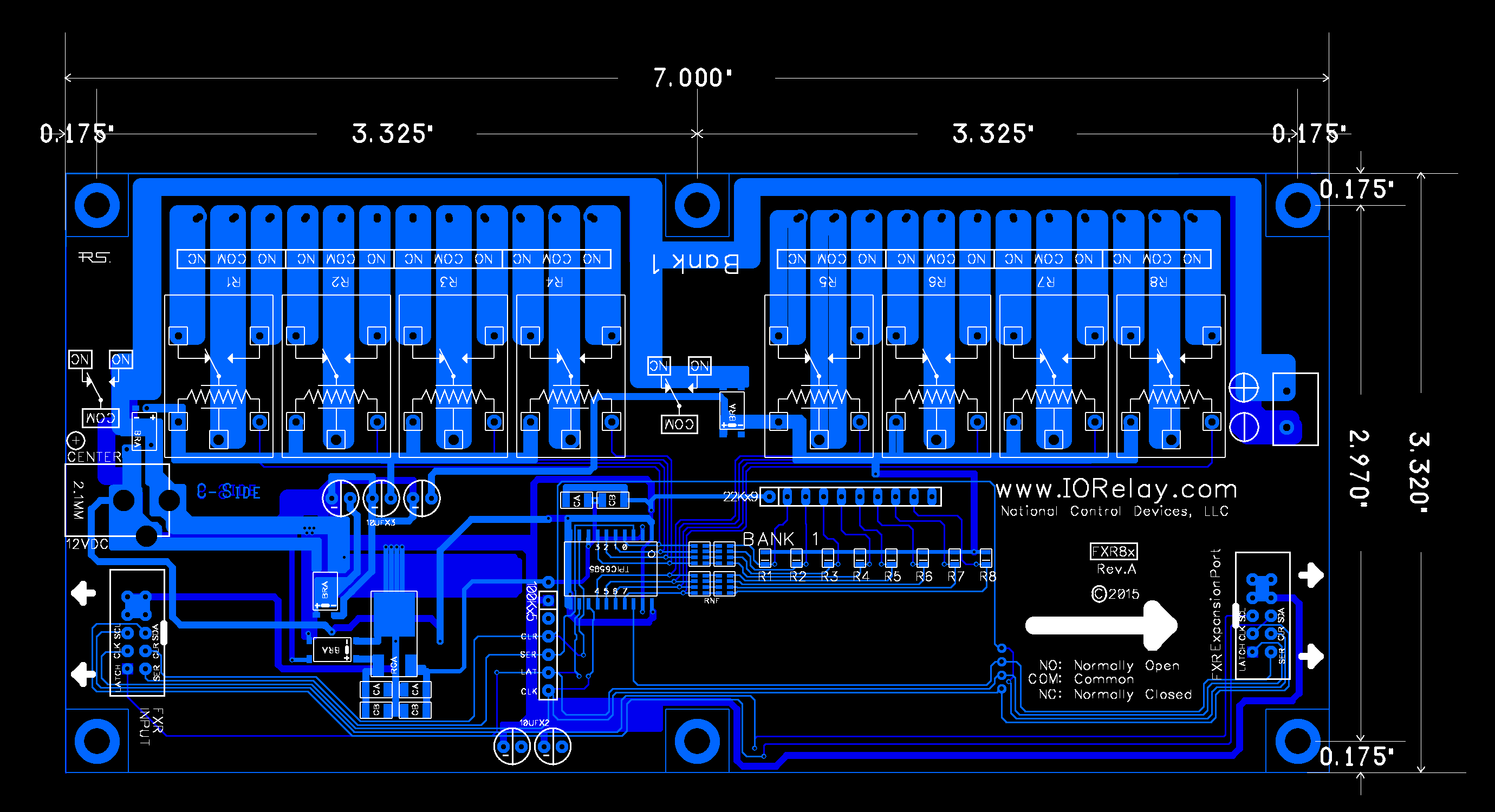Fusion Expansion Spdt Relay Controller 8-channel