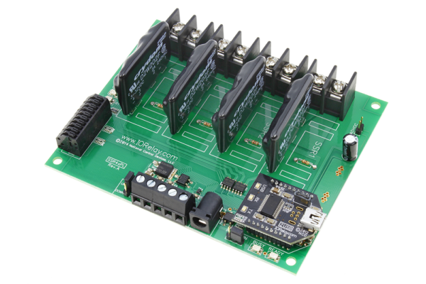 USB Relay Controller 4-Channel Solid State with 8-Channel ADCs