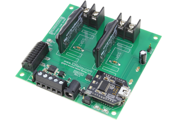 USB Relay Controller 2-Channel Solid State with 8-Channel ADCs