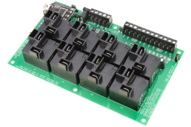 USB Relay Controller 8-Channel High-Current Relays and 8-Channel ADC