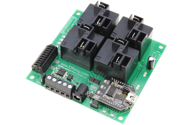 USB Relay Controller 4-Channel High-Current Relays and 8-Channel ADC