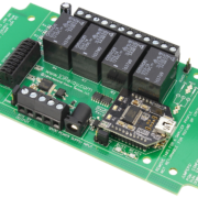 USB Relay Controller 4-Channel SPDT Relays and 8-Channel ADC