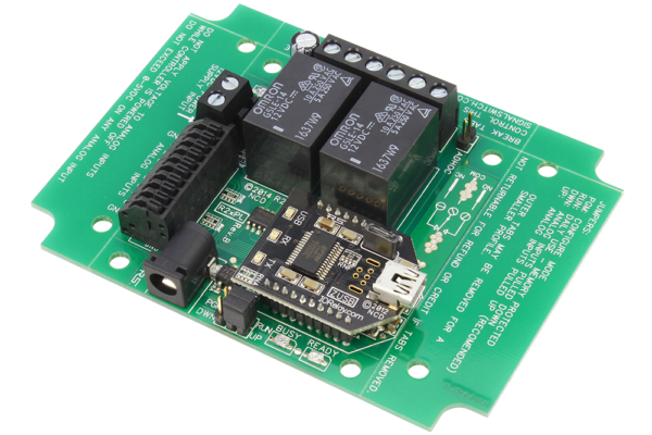 USB Relay Controller 2-Channel with SPDT Relays and 8-Channel ADC