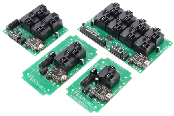 USB Relay Controllers with High-Power Relays and Analog to Digital Converters