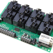 Ethernet Relay Controller 8-Channel High-Current with 8-Channel ADC