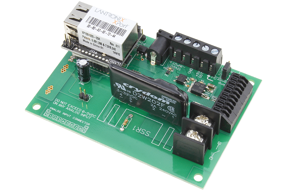 Ethernet Relay Board for PC Linux Mac with 8-Channel Analog Inputs