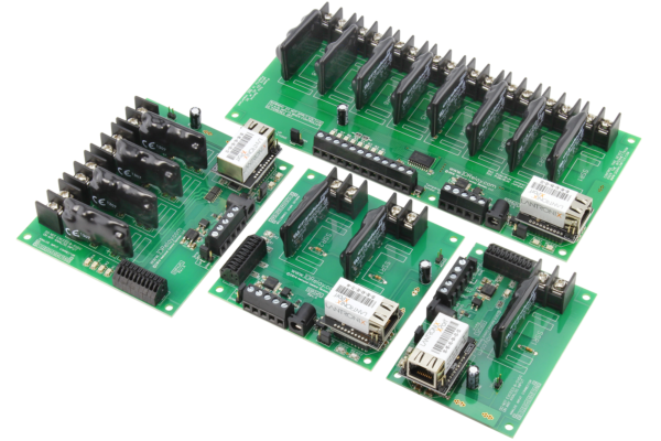 Ethernet Relay Controllers with 8-Channel ADC