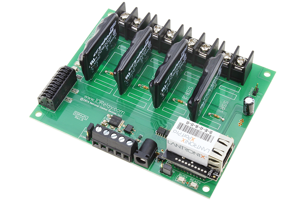 web relay board for windows, linux, android, ios and macwebrelay controller 4 channel ethernet solid state with 8 channel analog to digital converters