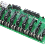 Web Relay Board 8-Channel Ethernet Solid State with 8-Channel Analog to Digital Converters
