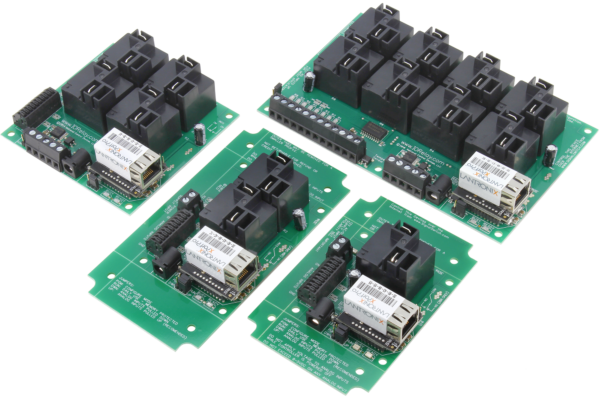 WebRelay Controllers with Ethernet Interface and High-Current Relays