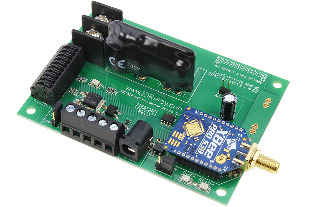 Wireless solid state relay board for pc mac linux 2 mile long range long range wireless relay controller with 1 channel solid state relays sciox Images