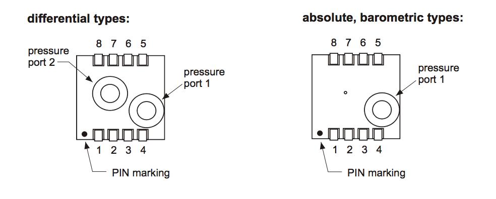 AMS5812-0050-D-B Amplified Pressure Sensor -344 7 to +344 7 mbar -5 to +5  PSI I2C Mini Module