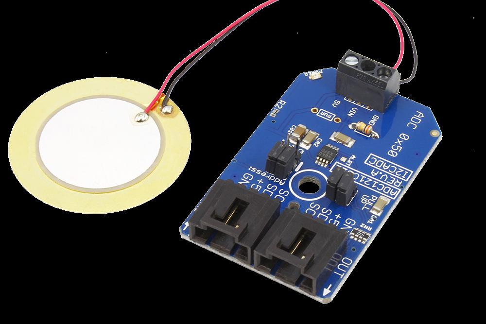 ADC121C021 Sound Sensor for Detecting Noise Knock Vibration or Shock using  I2C Piezo Sensor - store ncd io