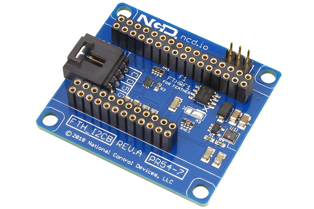 Feather Battery I2C Shield For Particle and Feather Modules