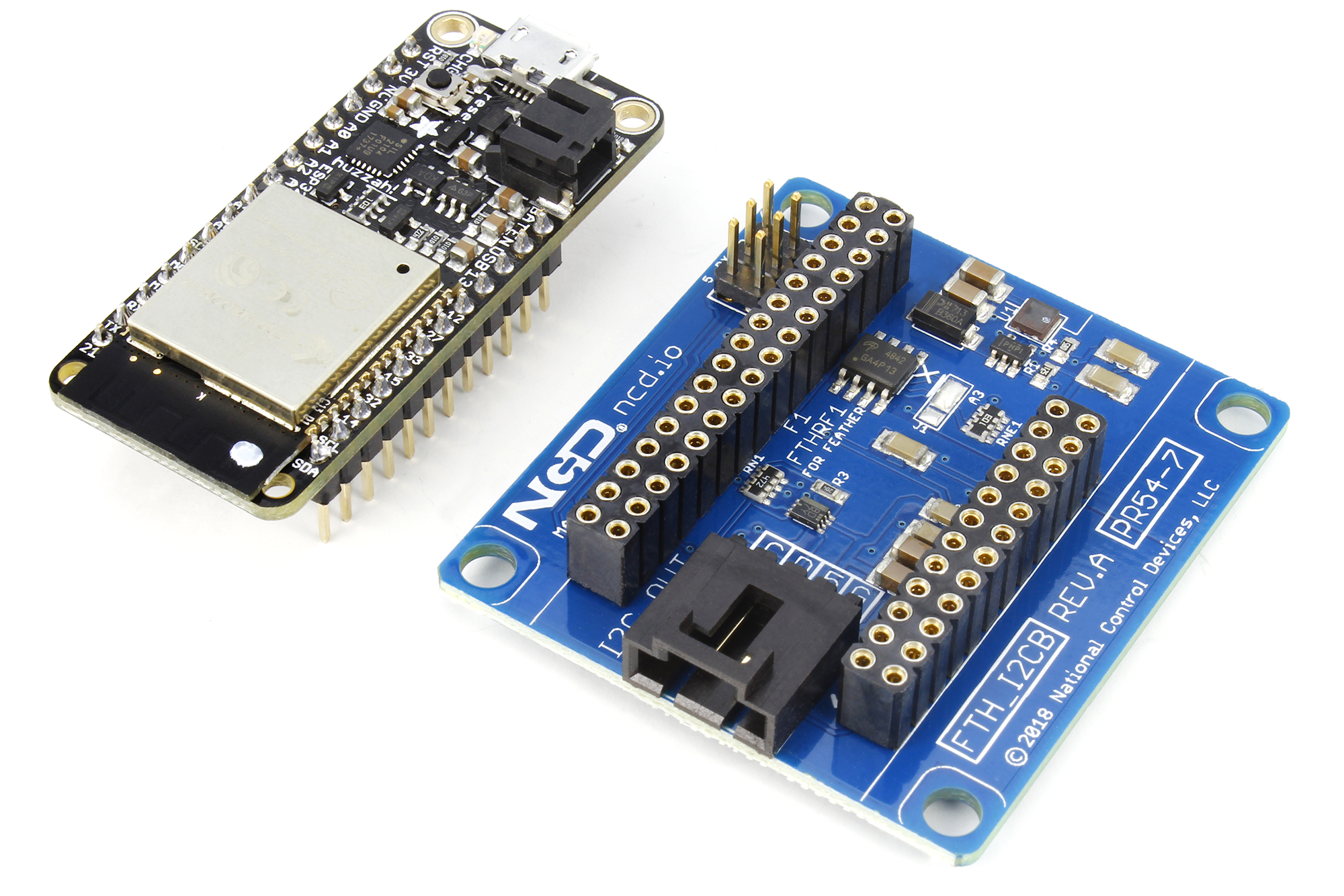 Feather Battery I2C Shield For Particle and Feather Modules - store ncd io