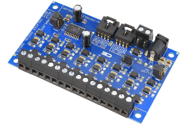 Isolated Digital Inputs with I2C Interface for Communication to Raspberry Pi Arduino Feather