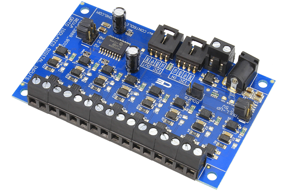 8-Channel I2C MCP23008 Optically Isolated Digital Input with I2C Interface  - store ncd io