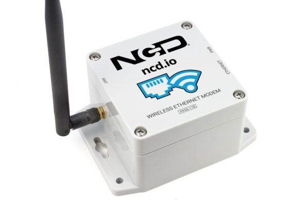 Connect Long Range Wireless Sensors to a Ethernet Connection using the NCD Ethernet Modem