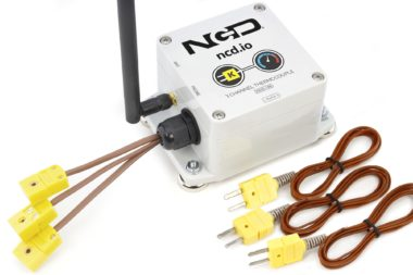 3-Channel Long Range Wireless Thermocouple Sensor Transmitter