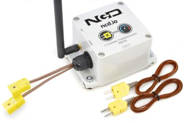 2-Channel Long Range Wireless Thermocouple Sensor Transmitter