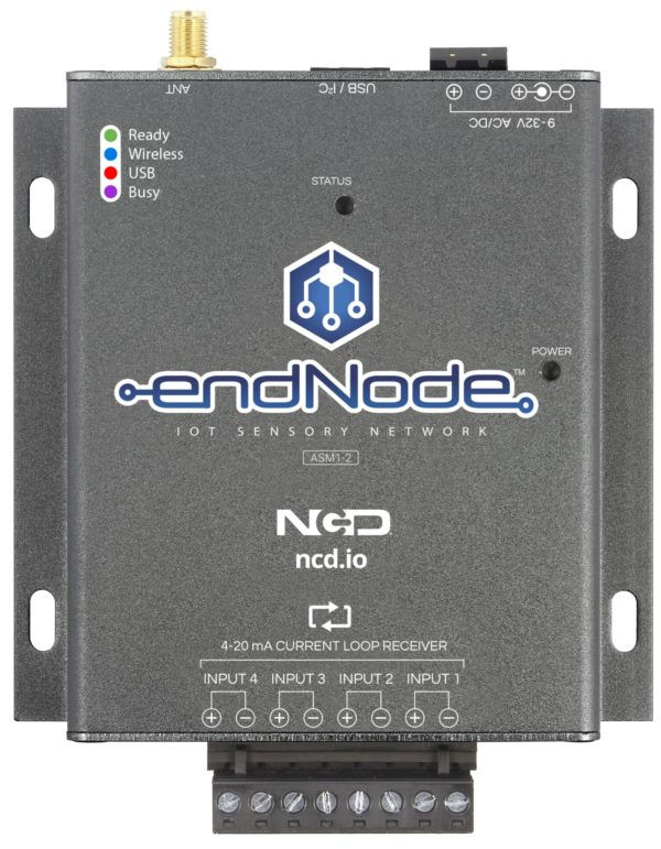 endNode ASM1-2 4-20mA Current Loop Receiver for IoT USB and Long Range Wireless