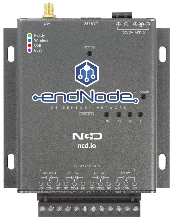 endNode ASM1-3 IoT Relay Controller 4-Channel 10-Amp USB and Wireless