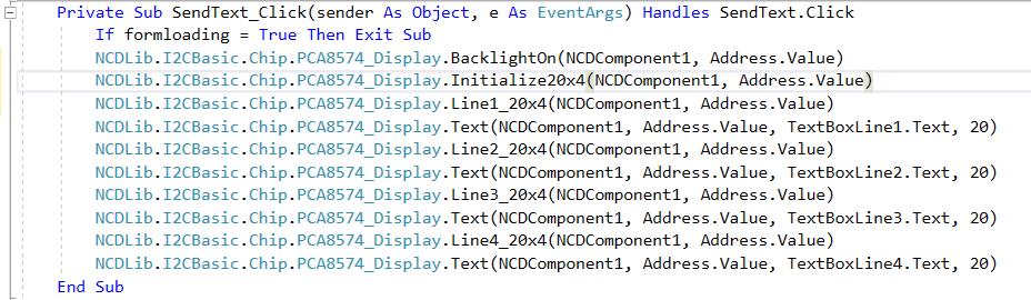 LCD Control Visual Studio Source Code