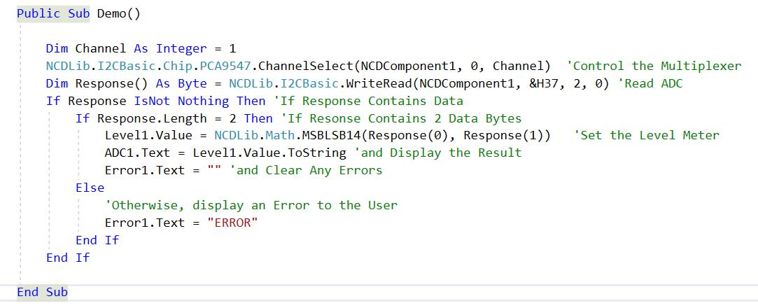 MAX1069 Visual Studio
