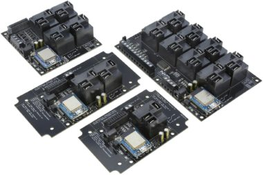WiFi Bluetooth Wireless High-Power Relays with ADC Inputs