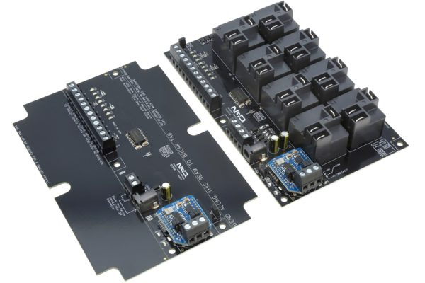 Contact Closure Transmitter Receiver Wired Interface with 8-Channel High-Power Relays