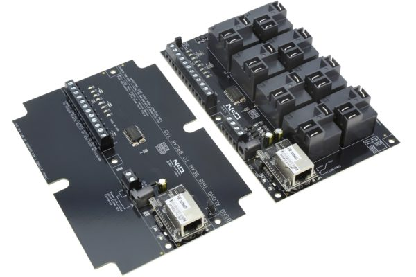 Contact Closure Transmitter Receiver over Ethernet 8-Channel High-Power Relays