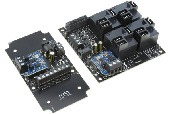 Contact Closure Transmitter Receiver Wired Interface with 4-Channel High-Power Relays